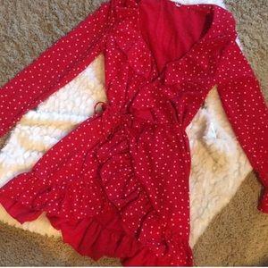 Dresses & Skirts - Ruffle wrap dress